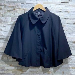 Apostrophe Black Button Cape Coat